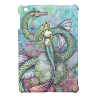 The Serpent's Reef Mermaid and Sea Serpent Art iPad Mini Cases