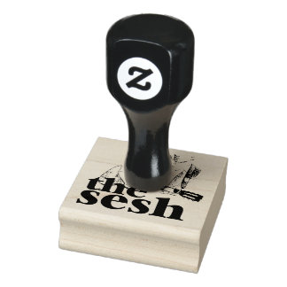 """the sesh"" 2""x2"" Rubber Stamp"