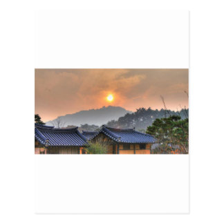 The Setting Sun in Asia Postcard