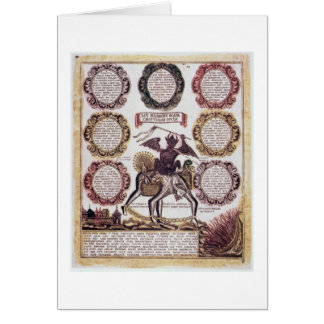 The Seven Deadly Sins (engraving) Greeting Card