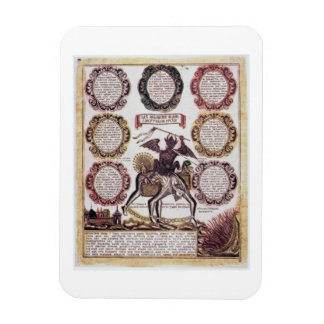 The Seven Deadly Sins (engraving) Rectangular Photo Magnet