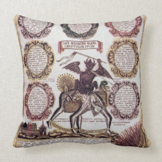 The Seven Deadly Sins (engraving) Throw Cushions