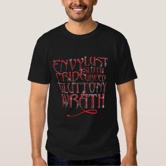 The Seven Deadly Sins Tee Shirt