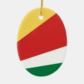 The Seychelles Flag Ceramic Oval Decoration