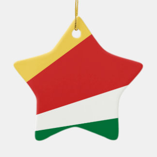 The Seychelles Flag Ceramic Star Decoration