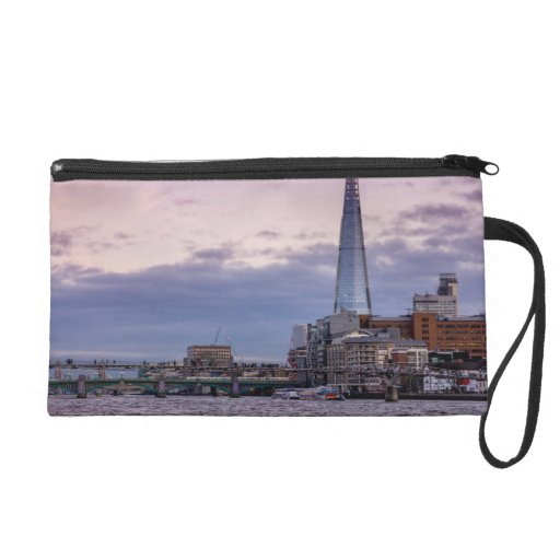 The Shard In The Evening, London UK Wristlet Purses