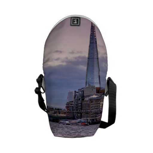 The Shard In The Evening, London UK Courier Bag