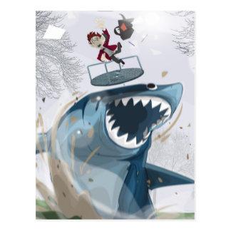The Shark in the Park (Original Artwork) Postcard