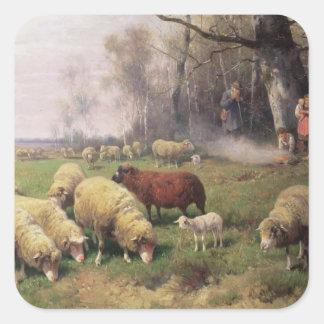 The Shepherd's Family Square Sticker
