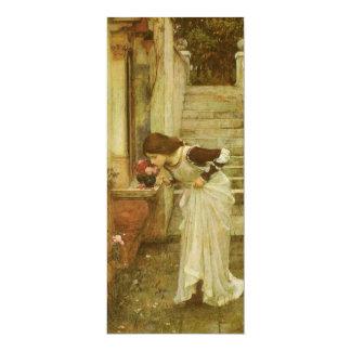 "The Shrine by JW Waterhouse, Vintage Victorian Art 4"" X 9.25"" Invitation Card"