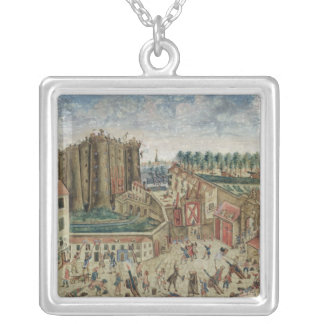 The Siege of the Bastille, 1789 Silver Plated Necklace