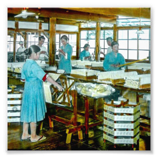 The Silk Twisters of Old Japan Silk Factory Photo Print