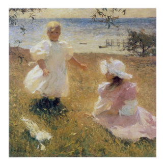 The Sisters, by Frank Weston Benson Poster