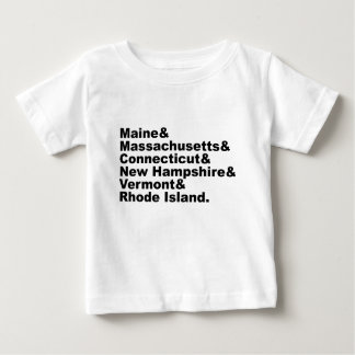 The Six Northeast States That Make Up New England Baby T-Shirt
