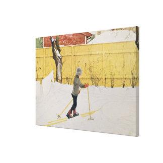The Skier, c.1909 Canvas Print