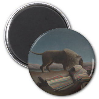 The Sleeping Gypsy 6 Cm Round Magnet