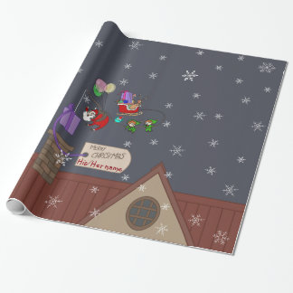 The SMALL christmas delivery template Wrapping Paper
