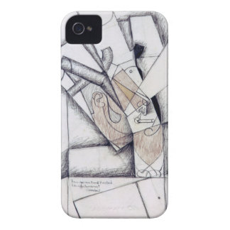 The Smoker, 1912 (charcoal & red chalk on paper) iPhone 4 Case-Mate Case