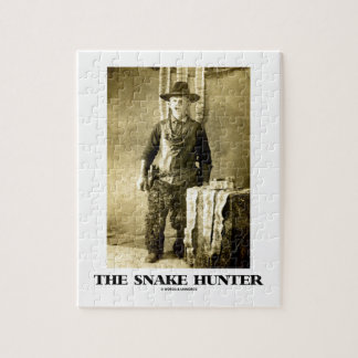 The Snake Hunter (Vintage Photo Snake Skins) Jigsaw Puzzle