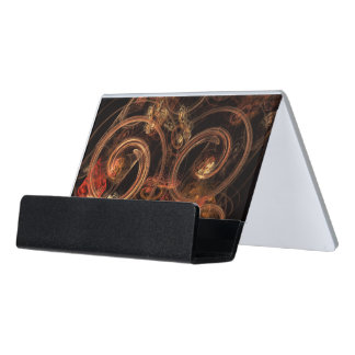 The Sound of Music Abstract Art Desk Business Card Holder