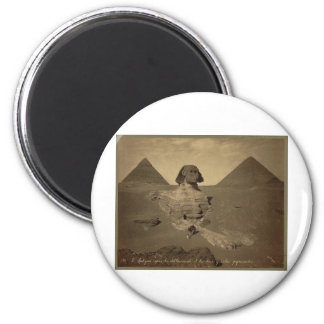 The Sphinx and Pyramids in Egypt circa 1867 Magnet