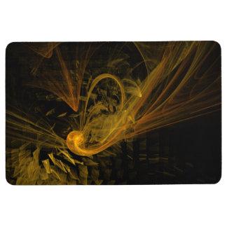 The Spiral of Life Abstract Art Floor Mat