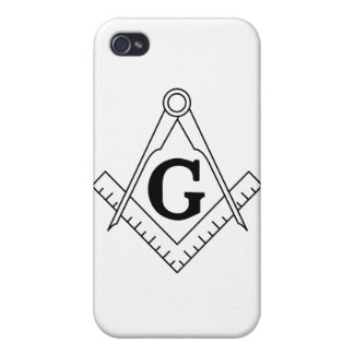 The Square and Compasses Freemasonry Symbol Cases For iPhone 4