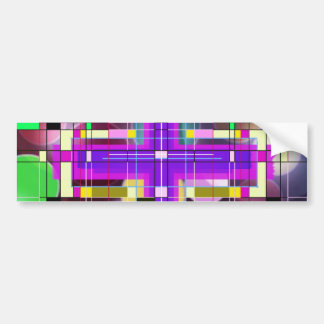 The Stained Glass Holy Cross. Bumper Sticker