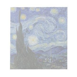 The Starry Night - Van Gogh (1888) Notepad