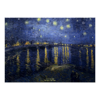 The Starry Night Vincent van Gogh 1888 Poster