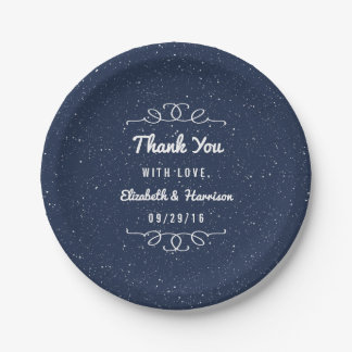 The Starry Night Wedding Collection 7 Inch Paper Plate