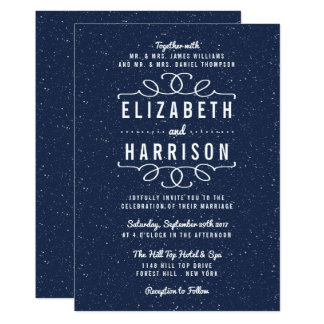 The Starry Night Wedding Collection Card