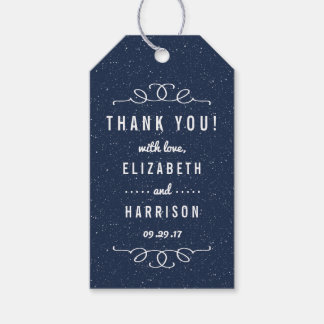 The Starry Night Wedding Collection Gift Tags