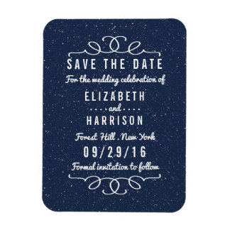 The Starry Night Wedding Save The Date Magnet