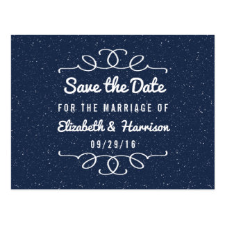 The Starry Night Wedding Save The Date Postcard