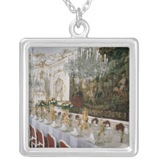 The State Banqueting Hall designed by Nikolaus Silver Plated Necklace