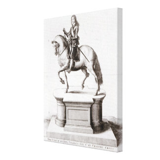 The statue of King Charles at Charing Cross Canvas Print
