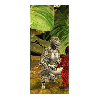 The stone people 10 cm x 24 cm invitation card