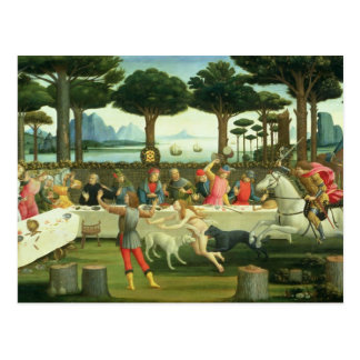 The Story of Nastagio degli Onesti Postcard