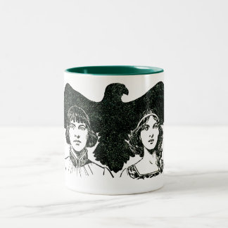 ~ The Story of the Falcon Illustrated ~ Two-Tone Coffee Mug