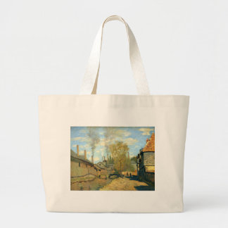 The Stream of Robec at Rouen by Claude Monet Large Tote Bag