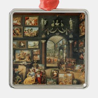 The Studio of Apelles Silver-Colored Square Decoration