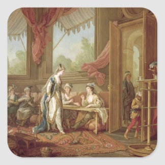The Sultana Ordering Tapestries Square Sticker