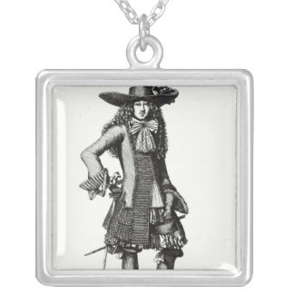 The Summer Sword Dress, 1675 Silver Plated Necklace