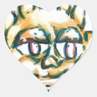 The Sun at Peace Heart Sticker