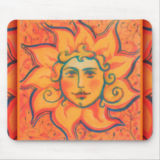 """""""The Sun"""", fantasy art, orange and red colors Mouse Pad"""