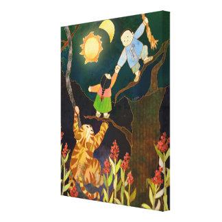 The Sun & Moon Korean Folk Tale Canvas Art (11x14) Gallery Wrapped Canvas