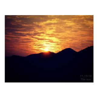 The sun postcard