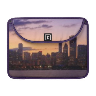 The sun sets over the Chicago skyline Sleeve For MacBooks