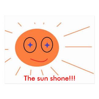 The sun shone!!! postcard